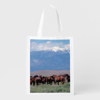 Wild Horses Out West Reusable Grocery Bag