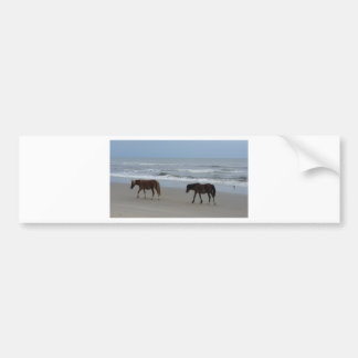 Wild Horses Outer Banks Bumper Sticker