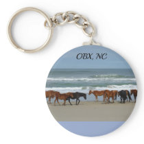 Wild Horses Outer Banks NC Keychain