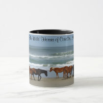 Wild Horses Outer Banks OBX Coffee Mug
