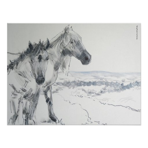 Wild Horses Painting 'Taking The Air II' Posters