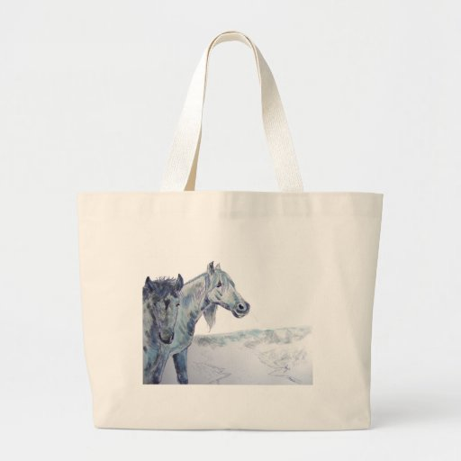 Wild Horses Painting  'Taking The Air III' Canvas Bag