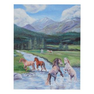Wild Horses Panel Wall Art