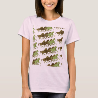 wild horses pattern T-Shirt