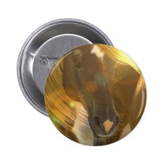 Wild Horses Photo Round Button