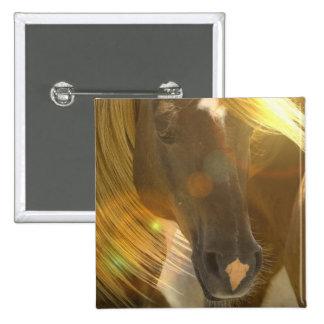 Wild Horses Photo Square Pin