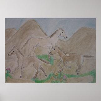 wild horses print