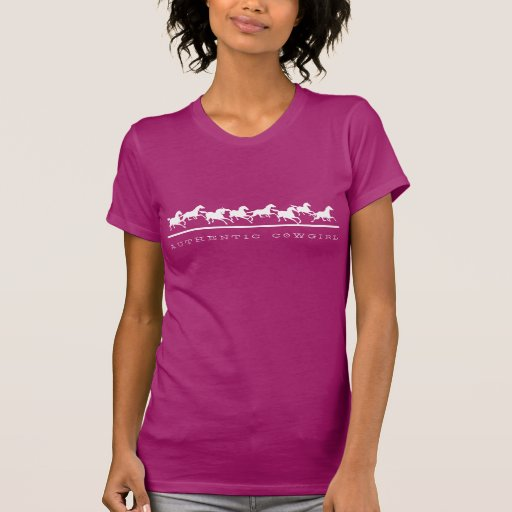 Wild horses running Authentic Cowgirl Tshirt