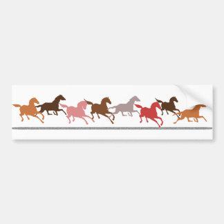 Wild horses running bumper sticker