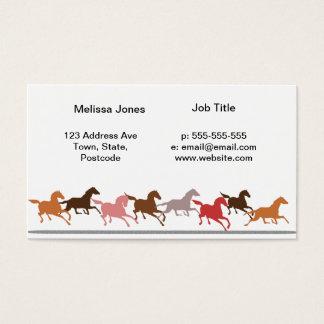 Wild horses running business card