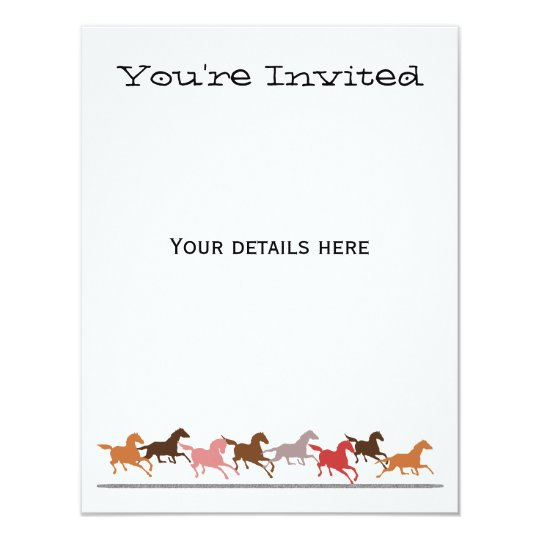 Wild horses running card