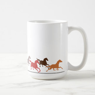 Wild horses running coffee mug