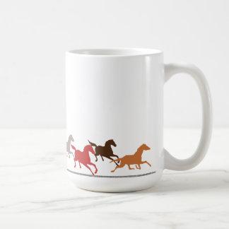 Wild horses running coffee mug