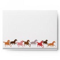 Wild horses running envelope