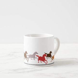 Wild horses running espresso cup