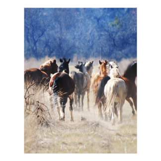Wild horses running personalized flyer