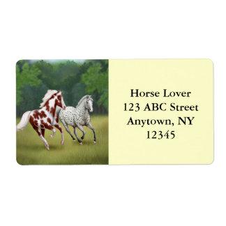 Wild Horses Running Free Label