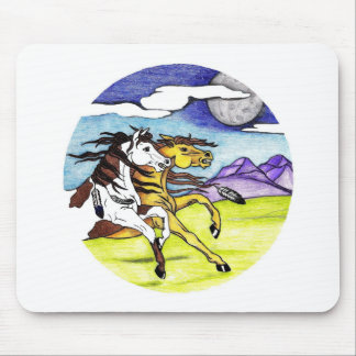 Wild Horses Running Free Mouse Pads