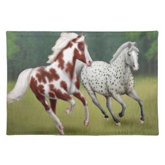 Wild Horses Running Free Placemat