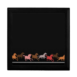 Wild horses running jewelry box