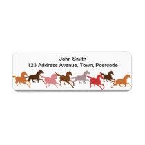 Wild horses running label