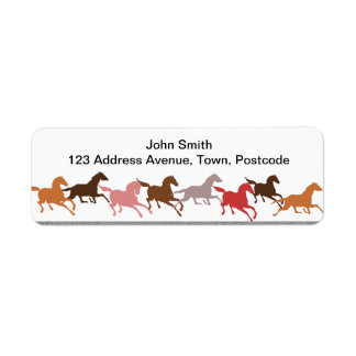 Wild horses running label