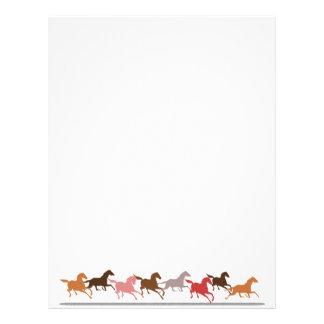 Wild horses running custom letterhead