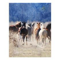 Wild horses running letterhead