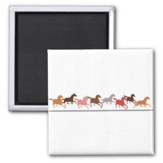 Wild horses running magnet