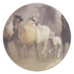 Wild horses running plates