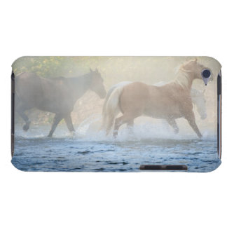 Wild horses running through water iPod touch Case-Mate case