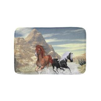 Wild horses runnning bath mats