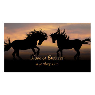 Wild Horses Silhouette Business Card