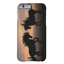 Wild Horses Silhouette Barely There iPhone 6 Case
