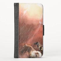 """Wild Horses """"Spots in the Desert"""" iPhone XS Wallet Case"""