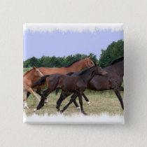 Wild Horses Square Pin