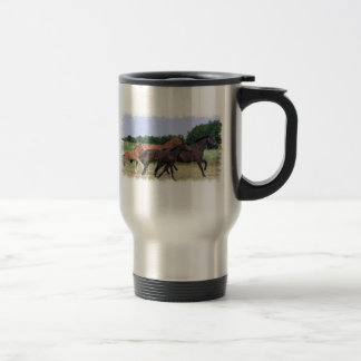Wild Horses Stainless Travel Mug