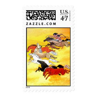 Wild horses stamp