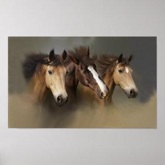 Wild Horses Three Print