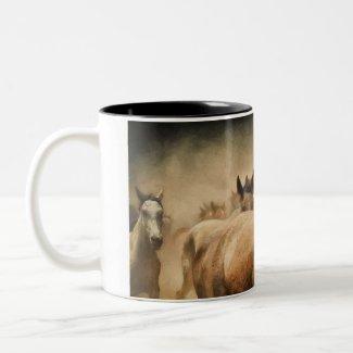 Wild Horses Two-Tone Mug