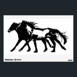 """Wild Horses - Wall Decal<br><div class=""""desc"""">A 12 x 18&quot; wall decal of two wild horses running side by side. The perfect decoration for horse lovers!</div>"""