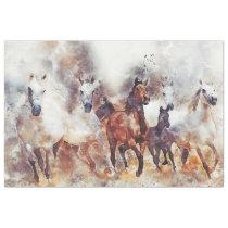 Wild Horses Western Decoupage Art Tissue Paper