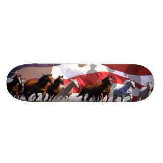 Wild Horses Western Freedom USA Skateboard Deck