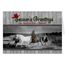 Wild Horses Western Themed | Custom Christmas Card