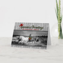 Wild Horses Western Themed | Custom Christmas Holiday Card