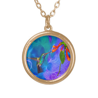 Wild Hummingbird Bird-lover's Art Pendant