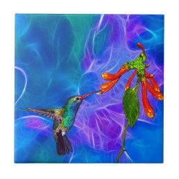 Wild Hummingbird Bird-lover's Art Series Ceramic Tile