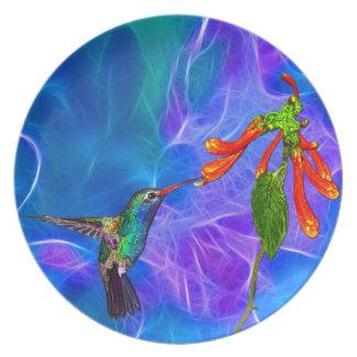 Wild Hummingbird Bird-lover's Art Series Dinner Plate