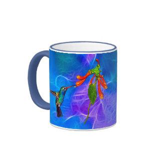 Wild Hummingbird Bird-lover's Art Series Ringer Coffee Mug
