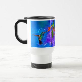 Wild Hummingbird Bird-lover's Art Series 15 Oz Stainless Steel Travel Mug